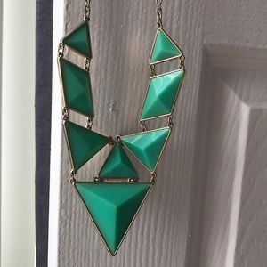 Jewelry - turquoise colored geometric drop necklace